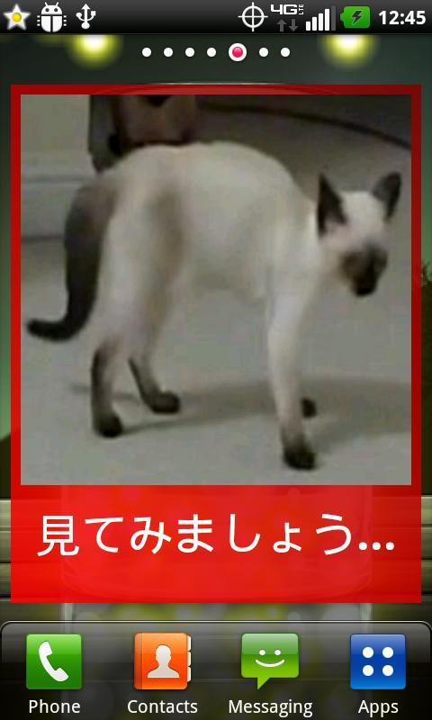 猫のしっぽウィジェット- screenshot