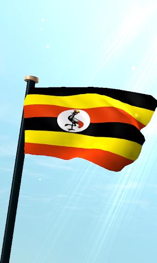 ウガンダフラグ3Dライブ壁紙