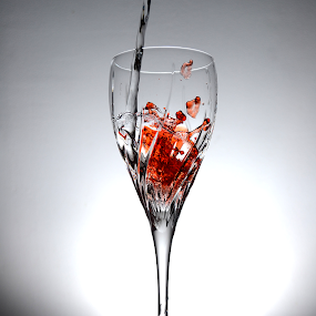 Water Splash by Micah Jaron Flack - Artistic Objects Glass ( water, water drops, orange water, water droplets, droplets )
