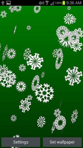 【免費個人化App】Snowflakes Live Wallpaper-APP點子
