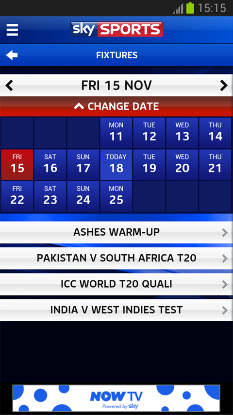 Sky Sports Live Cricket SC - screenshot