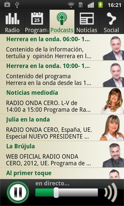 Onda Cero Radio - screenshot