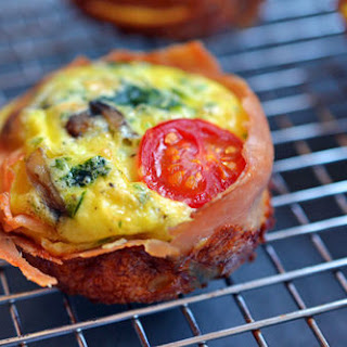 Prosciutto-Wrapped Mini Frittata Muffins.