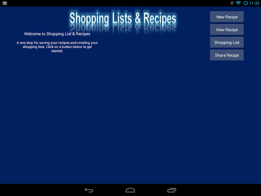 Shopping Lists Recipes