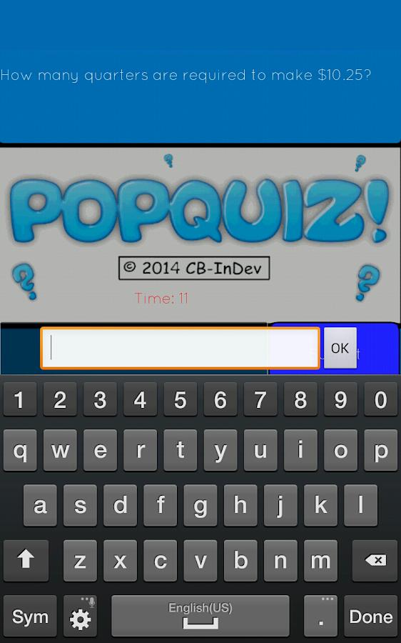 PopQuiz! Trivia Game - screenshot
