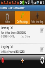 Personal Call & Voice Recorder