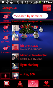 GO Contacts EX Christmas Theme screenshot 2