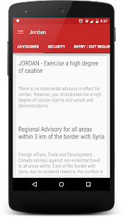 Canadian Travellers: Advisories & Border Wait Time- screenshot thumbnail