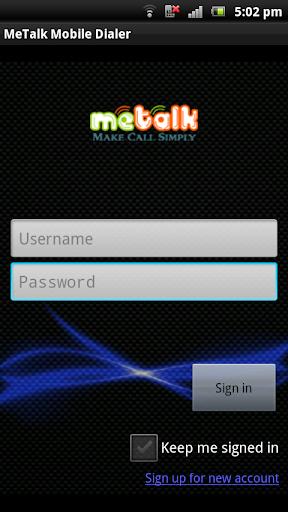 MeTalk Mobile Dialer