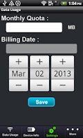 Screenshot of Data Usage Manager Free