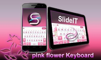 Screenshot of SlideIT Pink Flower Skin