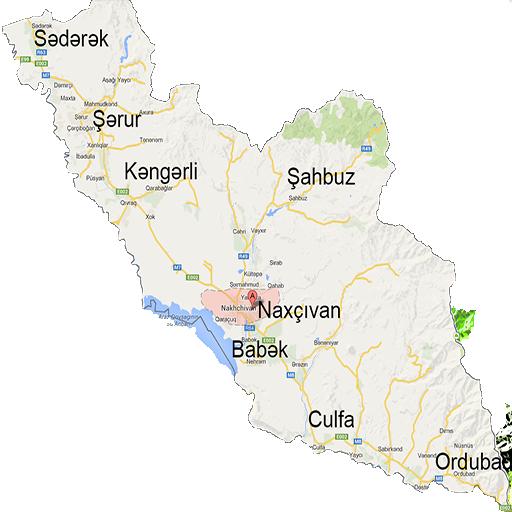 Naxçıvan MR Xəritəsi