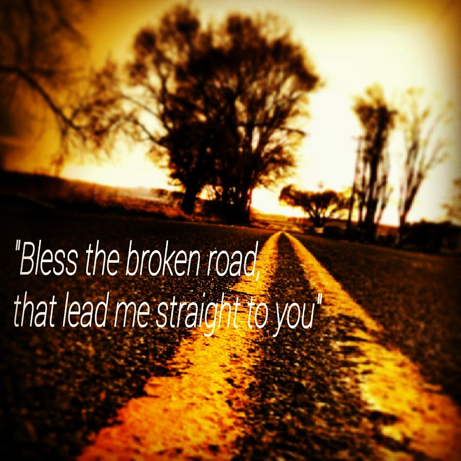 The Broken Road by Austin Watson - Typography Captioned Photos ( broken, colors, street, perspective, depth,  )