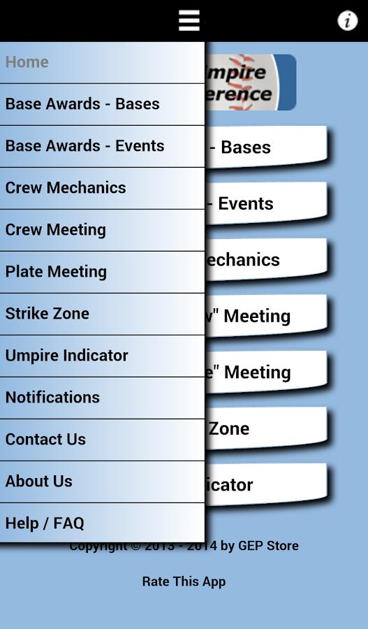 Baseball Umpire Pocket Ref - screenshot