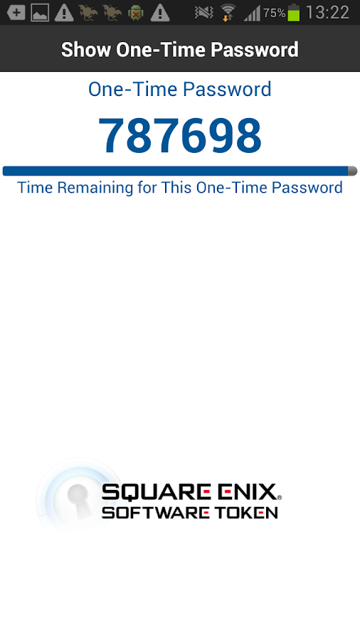 SQUARE ENIX Software Token - screenshot