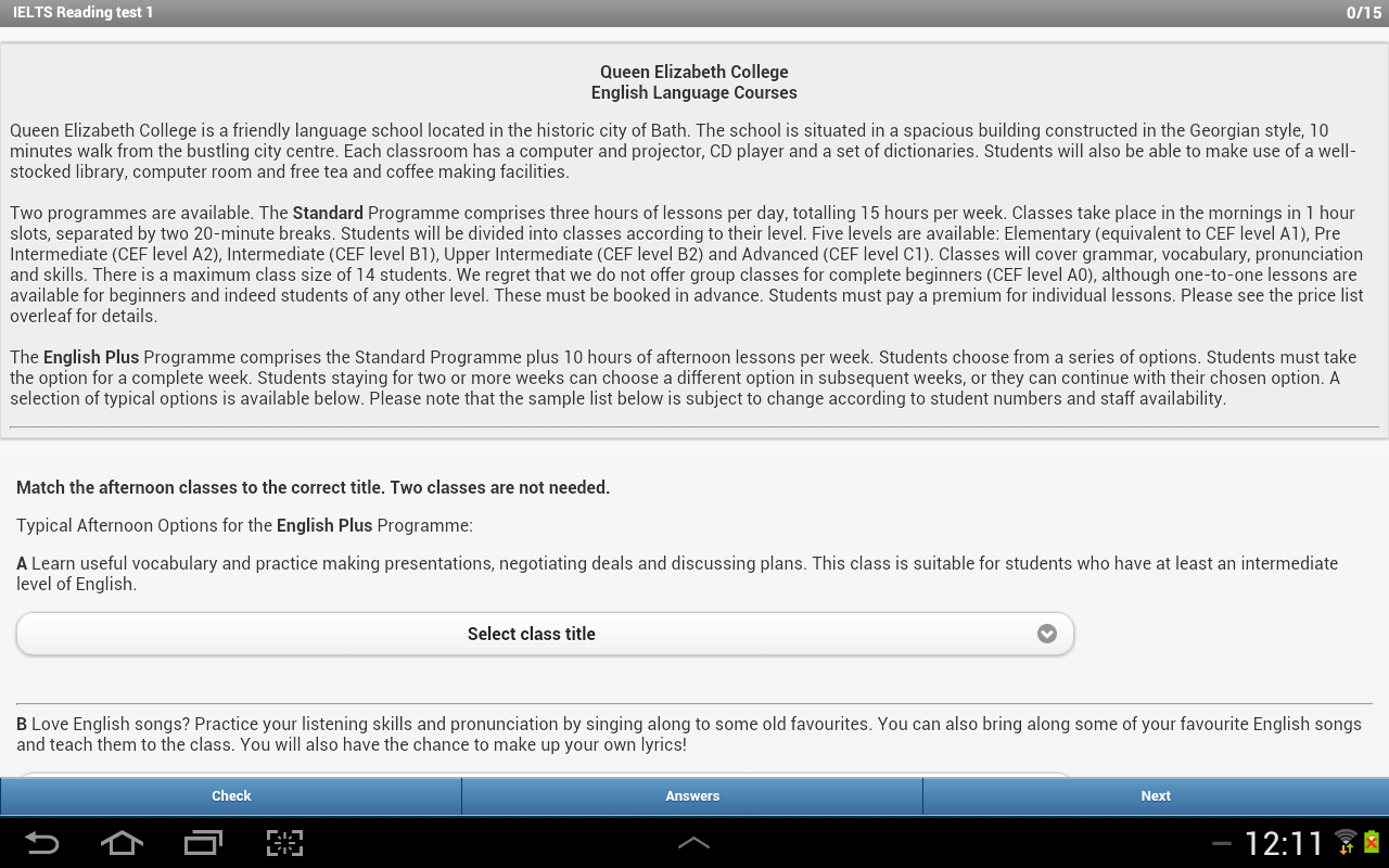 IELTS Reading- screenshot