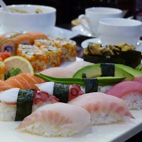 Enjoy Sushi by Francesco Altamura - Food & Drink Plated Food ( sashimi, fish, food, sushi, japanese culture, plated food, japanese, restaurant, rolls,  )