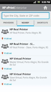 HP ePrint Enterprise (service)- screenshot thumbnail