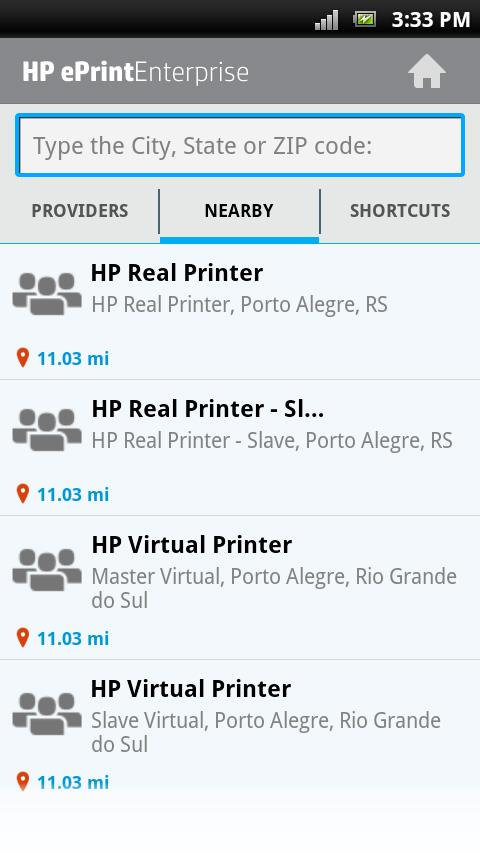 HP ePrint Enterprise (service) - screenshot