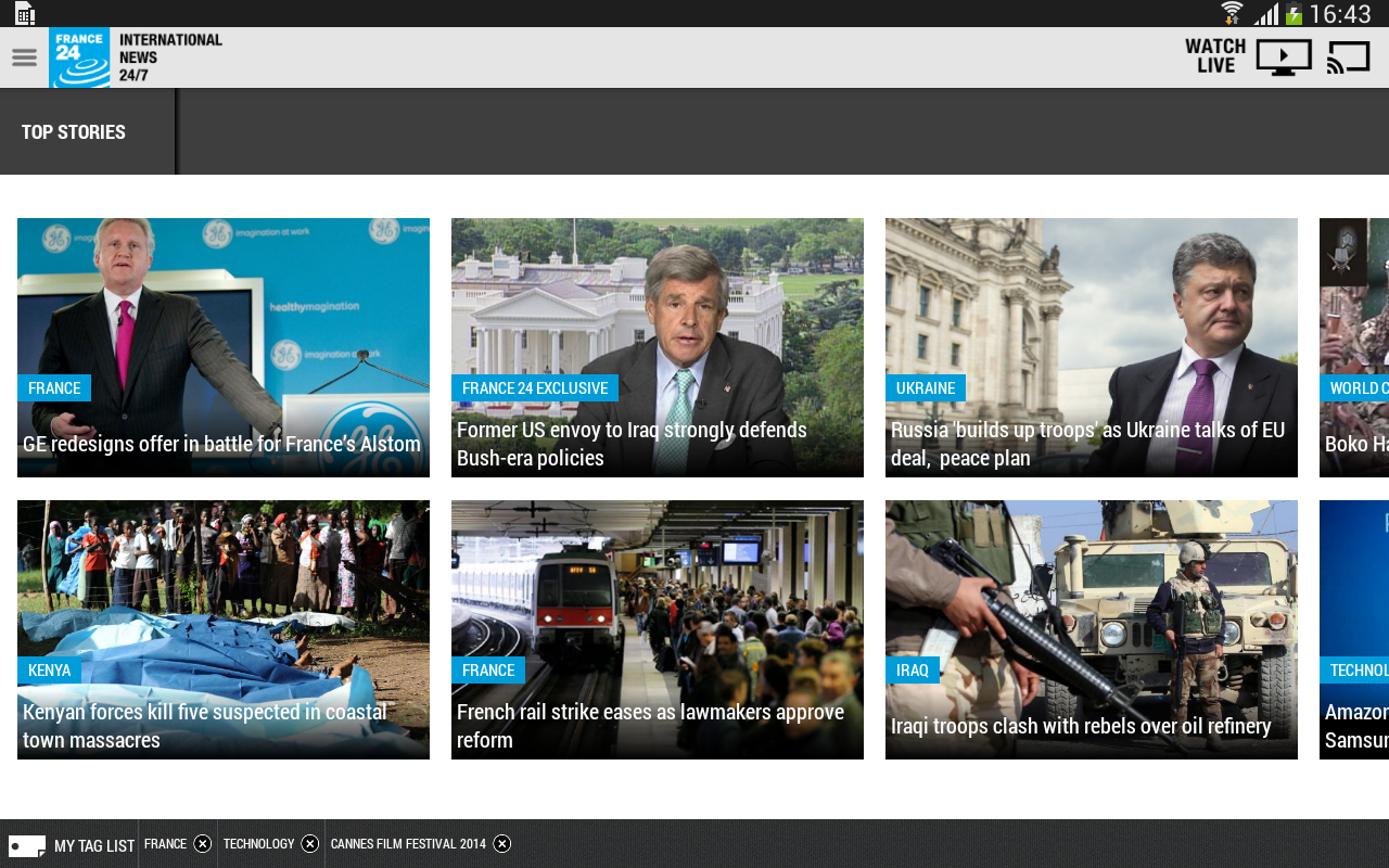 FRANCE 24 - screenshot