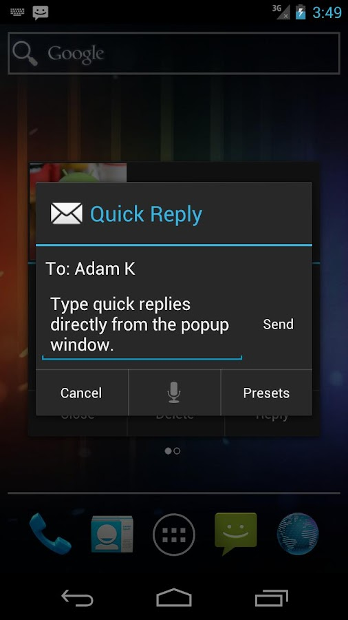 SMS Popup - screenshot