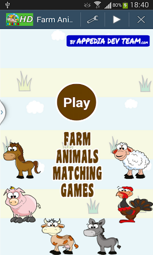 Farm Animals Matching Games