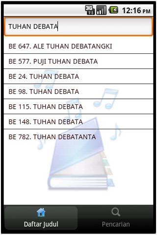 Buku Ende HKBP - screenshot