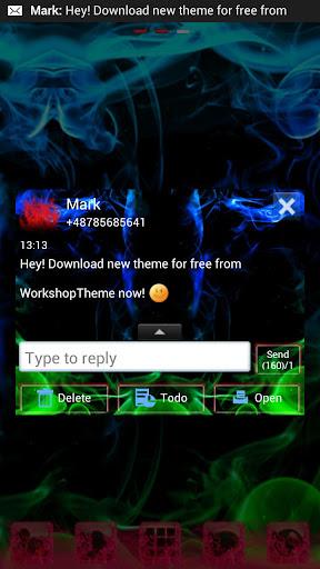 【免費個人化App】GO短信加强版主題綠色的煙霧-APP點子