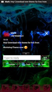 GO SMS Pro Theme green smoke- screenshot thumbnail