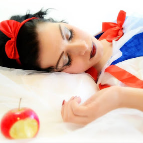 Snow White Theme  by Lisa Kirkwood - People Portraits of Women ( snowwhite theme potrait colourful woman )