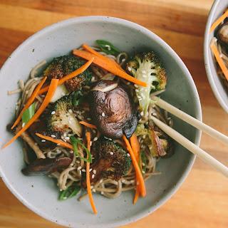 Shiitake Mushroom and Broccoli Soba Noodles.