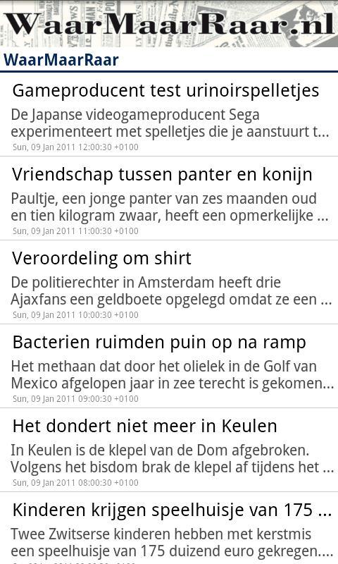 WaarMaarRaar.nl - screenshot