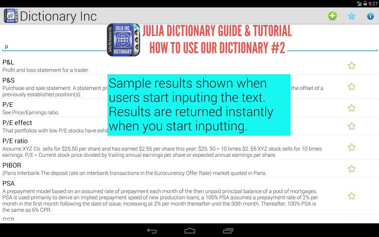 English Sinhala Dictionary - screenshot