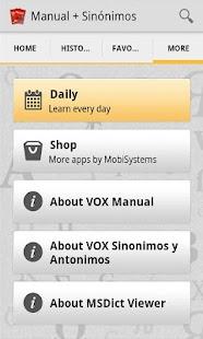 VOX Compact Spanish+Thesaurus - screenshot thumbnail