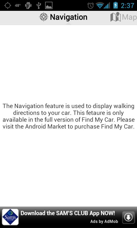 Find My Car Lite - screenshot