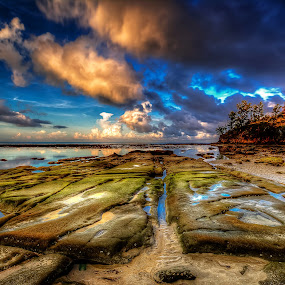 Touching the Clouds by NC Wong - Landscapes Cloud Formations ( landscape, beach )