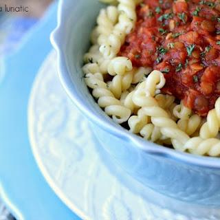 Lentil Quinoa Bolognese Sauce