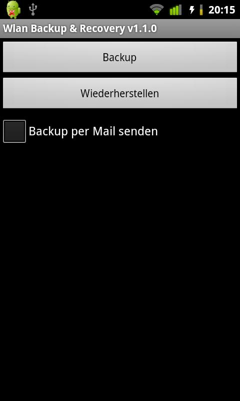 Wlan Backup & Recovery (root) - screenshot