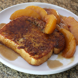 French Toast With Caramelized Peaches