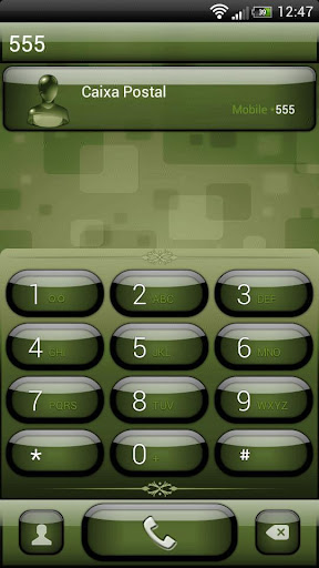 exDialer Jelly Olive Theme