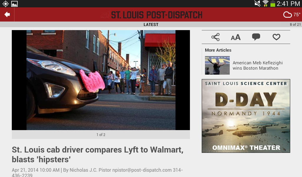 St. Louis Post-Dispatch- screenshot