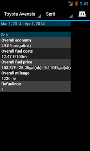 Refueling database- screenshot thumbnail