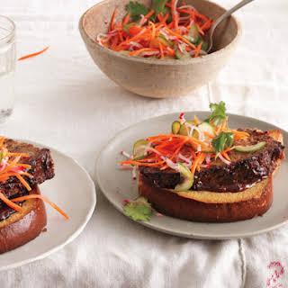 Hoisin-Glazed Meatloaf Sandwiches.
