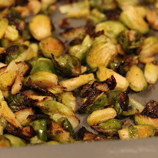 Roasted Garlic Brussels Sprouts.