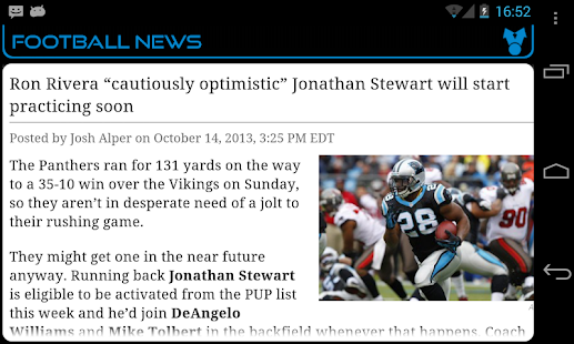Carolina Football News - screenshot thumbnail