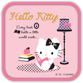 Hello Kitty Reading Book Theme