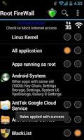 Screenshot of Root Firewall Pro