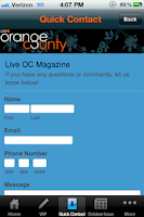Screenshot of OC Live Magazine
