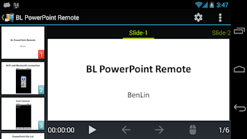 Screenshot of BL PowerPoint Remote