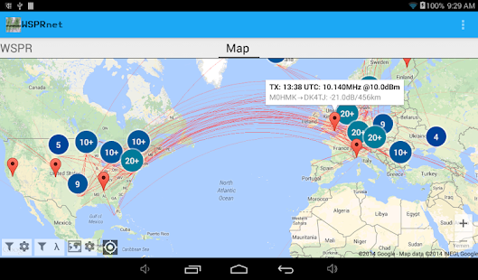 WSPRnet Viewer for WSPR- screenshot thumbnail
